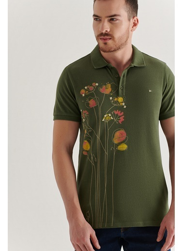 Avva Erkek  Polo Tişört A11Y1081 Haki